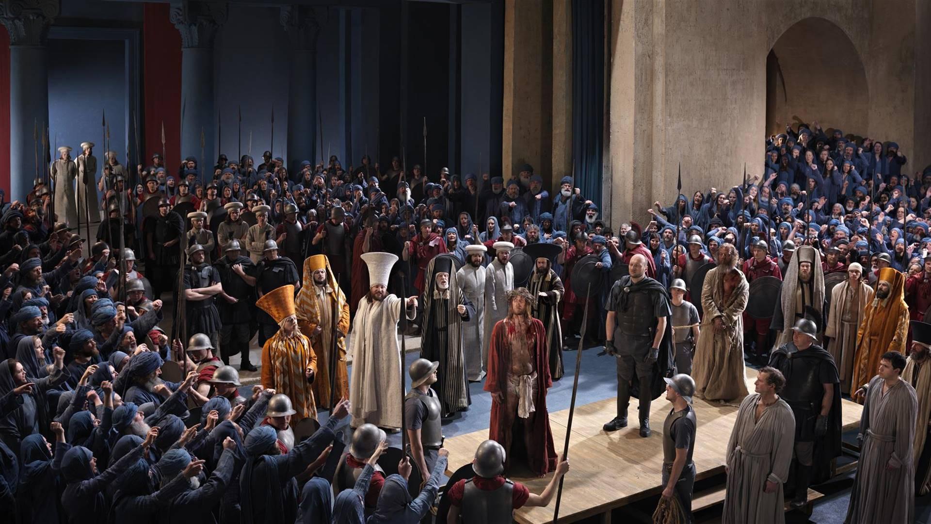 Bühnenszene bei den Oberammergauer Passionsspielen