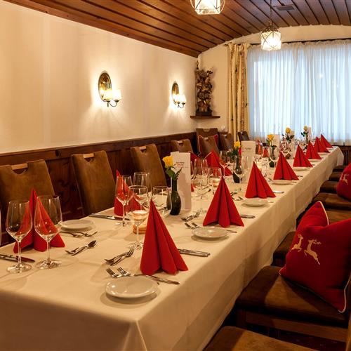 Tafel im Restaurant